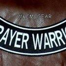 "PRAYER WARRIOR Back Patch Bottom Rocker for Biker Veteran Vest Jacket 10"""