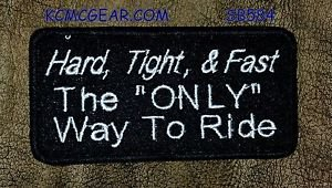HARD TIGHT and FAST Small Badge for Biker Vest Jacket Motorcycle Patch
