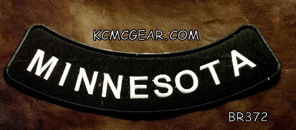 "MINNESOTA ROUND CORNERS Back Patch Bottom Rocker for Biker Veteran Vest 10"""