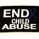 "End Child Abuse3.5"" x 2.625""  Small Badge Biker Vest Jacket Patch SB829 SB828"