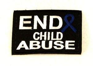 End Child Abuse3.5� x 2.625�  Small Badge Biker Vest Jacket Patch SB829 SB828
