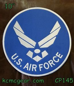 U.S. AIR Force for Biker Motorcycle Vest Jacket Military Back Rocker Patches 10""
