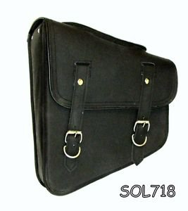 Motorcycle side bag two strap swing arm bag with quick release buckles SOL718