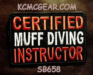 CERTIFIED MUFF DIVING INSTRUCTOR Small Badge for Biker Vest Motorcycle Patch