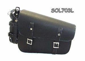 Two strap leather swing arm bag three adjustable strap mounting SOL703L