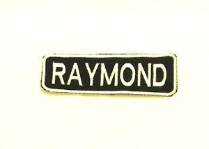 RAYMOND Name Tag Patch Iron on or sew on for Shirt Jacket Vest New Name Patches