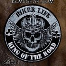 Biker Life King of the Road Small Badge for Biker Vest Jacket Motorcycle Patch