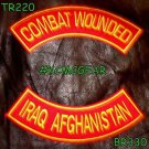 COMBAT WOUNDED IRAQ AFGHANISTAN Back Military Patches Set for Biker Vest Jacket
