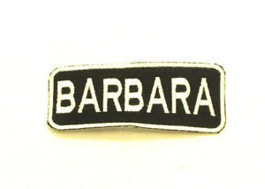 BARBARA Name Tag Patch Iron on or sew on for Shirt Jacket Vest New Name Patches