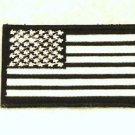 US flag White on black Small Badge Biker Vest Jacket Motorcycle Patch