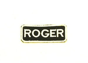 ROGER Name Tag Patch Iron on or sew on for Shirt Jacket Vest New Name Patches