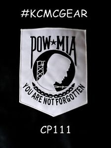 POW MIA YOU ARE NOT FORGOTTEN for Biker Motorcycle Vest  Jacket Back Patches 10""