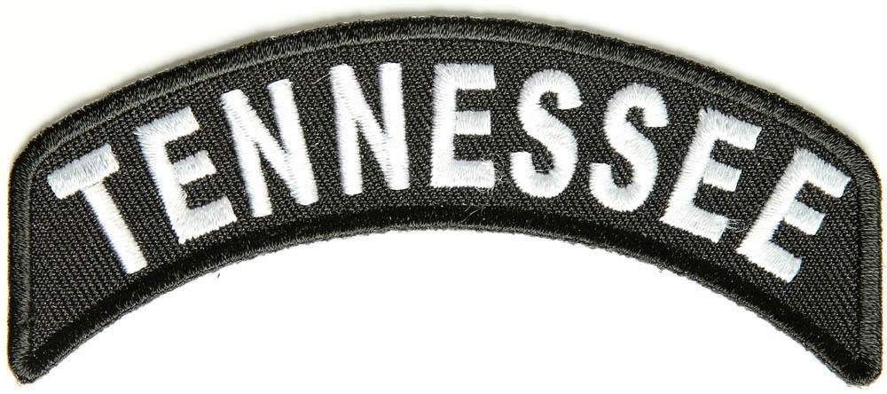TennesseeState Rocker Patch Sml Embroidered Motorcycle Biker Vest Patches SR745