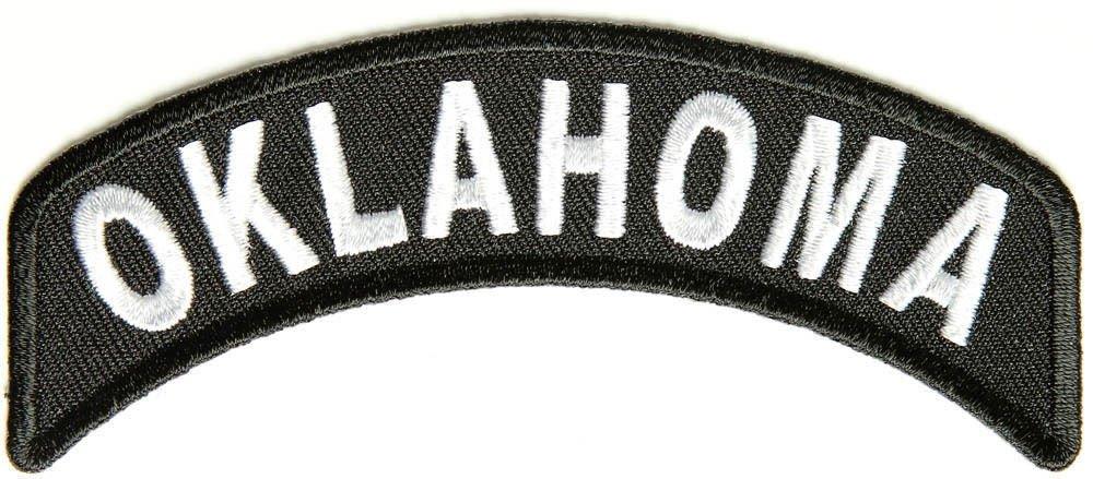 OklahomaState Rocker Patch Sml Embroidered Motorcycle Biker Vest Patch SR739