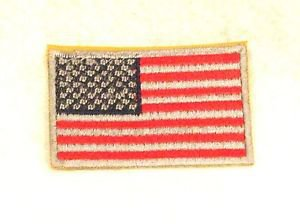 US Flag Red silver and blue Small Badge Biker Vest Jacket Motorcycle Patch