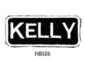 KELLY Name Tag Patch Iron or sew on for Shirt Jacket Vest New BIKER Patches