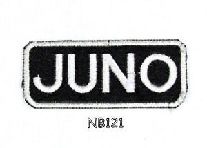 JUNO Name Tag Patch Iron or sew on for Shirt Jacket Vest New BIKER Patches
