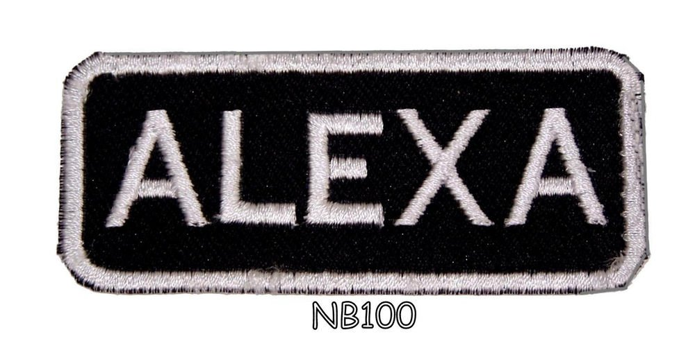 ALEXA Name Tag Patch Iron or sew on for Shirt Jacket Vest New BIKER Patches