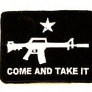 Come and Take It White and Black Small Badge for Biker Vest Jacket Patch SB731