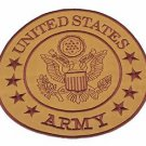 U.S Army Brown on Gold Center Patch Iron on for Biker Vest and Jacket