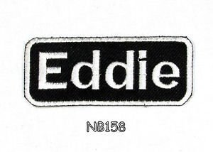 EDDIE Name Tag Patch Iron or sew on for Shirt Jacket Vest New BIKER Patches