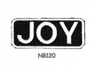 JOY Name Tag Patch Iron or sew on for Shirt Jacket Vest New BIKER Patches