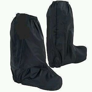 Rain Boot covers for Motorcycle Rididng black with reflective visibility small