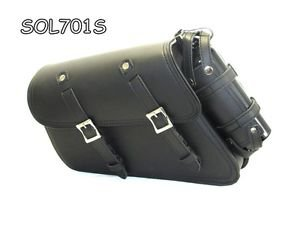 MOTORCYCLE Solo Bag Swingarm SIDE SaddleBag for Harley Sportster 2000 to 2015