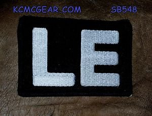 LE White on Black Small Badge for Biker Vest Jacket Motorcycle Patch
