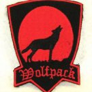 WOLF PACK red on black Small Badge for Biker Vest Jacket Motorcycle Patch