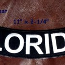 FLORIDA White on Black Back Patch Bottom Rocker for Biker Veteran Vest 10""