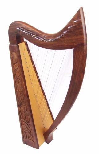 Starter learner Harp 21 string Irish Celtic Style Solid Wood free Bag & strings