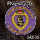 Honor and Bravery Purple Heart Small Badge for Women Biker Vest Motorcycle Patch