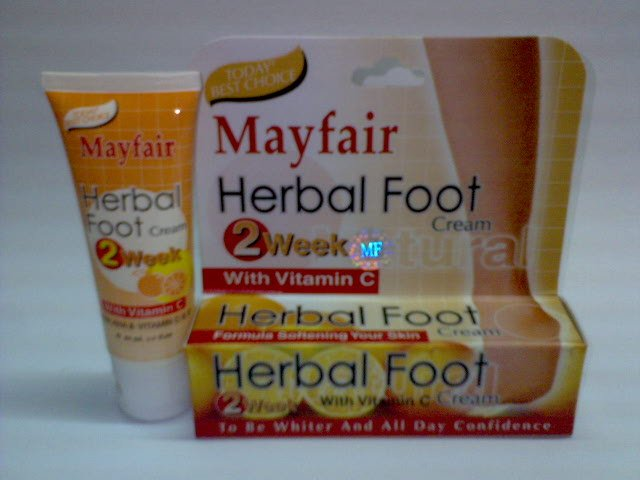 Mayfair Herbal Foot Cream w/ Vitamin C ~*results in 2 weeks*~ (2 tubes) FREE SHIPPING