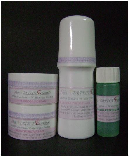 1 set DERMA Underarm Whitening / Peeling Set for Normal Skin (price includes shipping already)