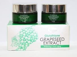 2 boxes GEMLI Glutathione Grapeseed Extract Whitening & Anti-Aging Day and Night Cream FREE SHIPPING