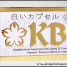 2 sets KB - Kyusoku Bihaku Glutathione x 30caps + NAC w/ 30caps Vitamin C Rosehips FREE SHIPPING