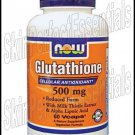 2 bottles Now Glutathione Cellular Antioxidant 500 mg x 60 capsules FREE SHIPPING
