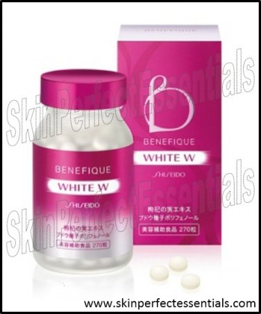 2 boxes Shiseido Benefique White W Glutathione x 270 tablets FREE SHIPPING