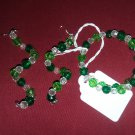Multi green and clear jewelry set