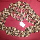Multi brown dew drop infinity scarf