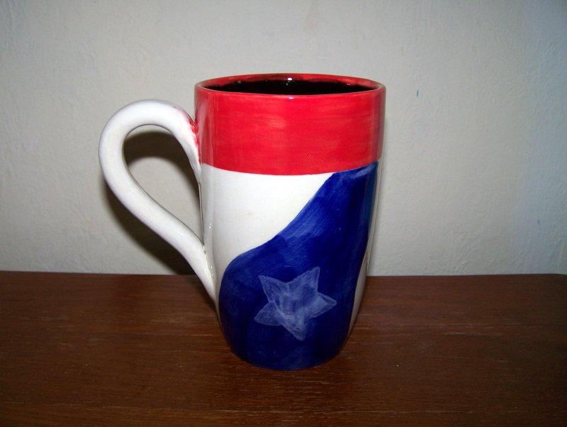 Patriotic Red White and Blue Coffee Mug