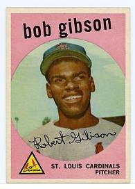 Bob Gibson RC 1959 Topps #514