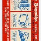 Bazooka Promo Card 1958 Topps
