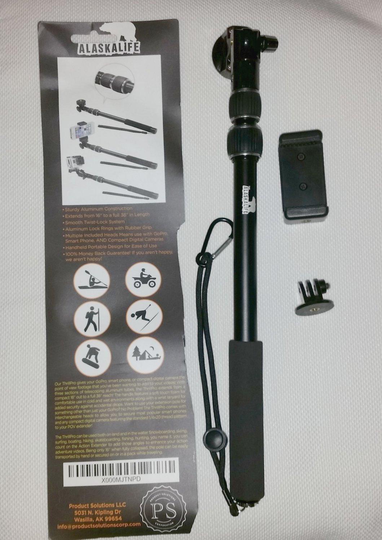 Alaskalife ThrillPro Selfie Stick GoPro, Camera, Cell Phone Universal Monopod