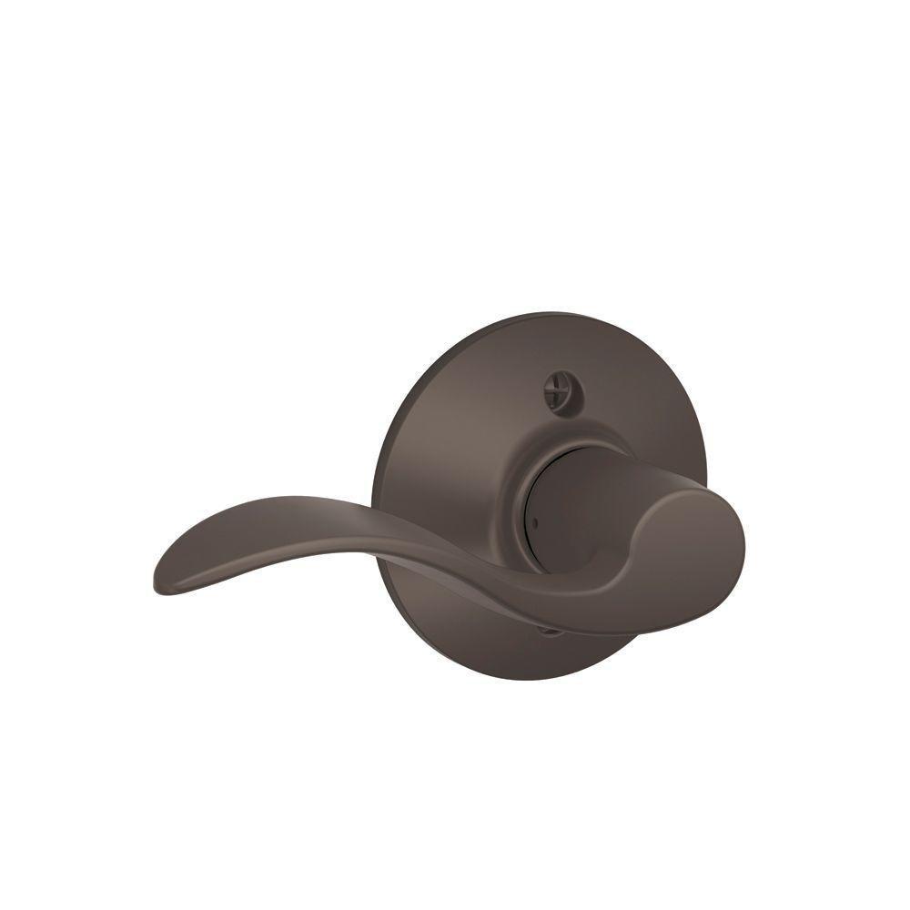 Schlage Dummy Trim Lever Oil Rubbed Bronze F170 ACC 613 LH Left-Hand