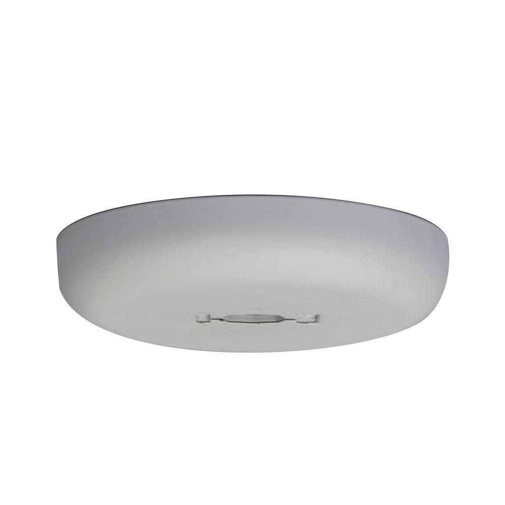 Hampton Bay EC7200WH Track Lighting White Direct-Wire Monopoint Canopy
