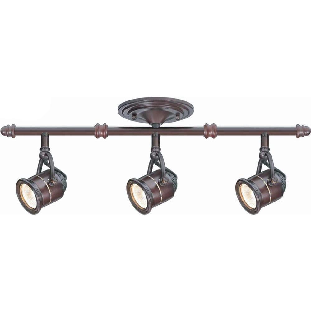 hampton bay ec4885abz 3 light antique bronze ceiling bar track. Black Bedroom Furniture Sets. Home Design Ideas
