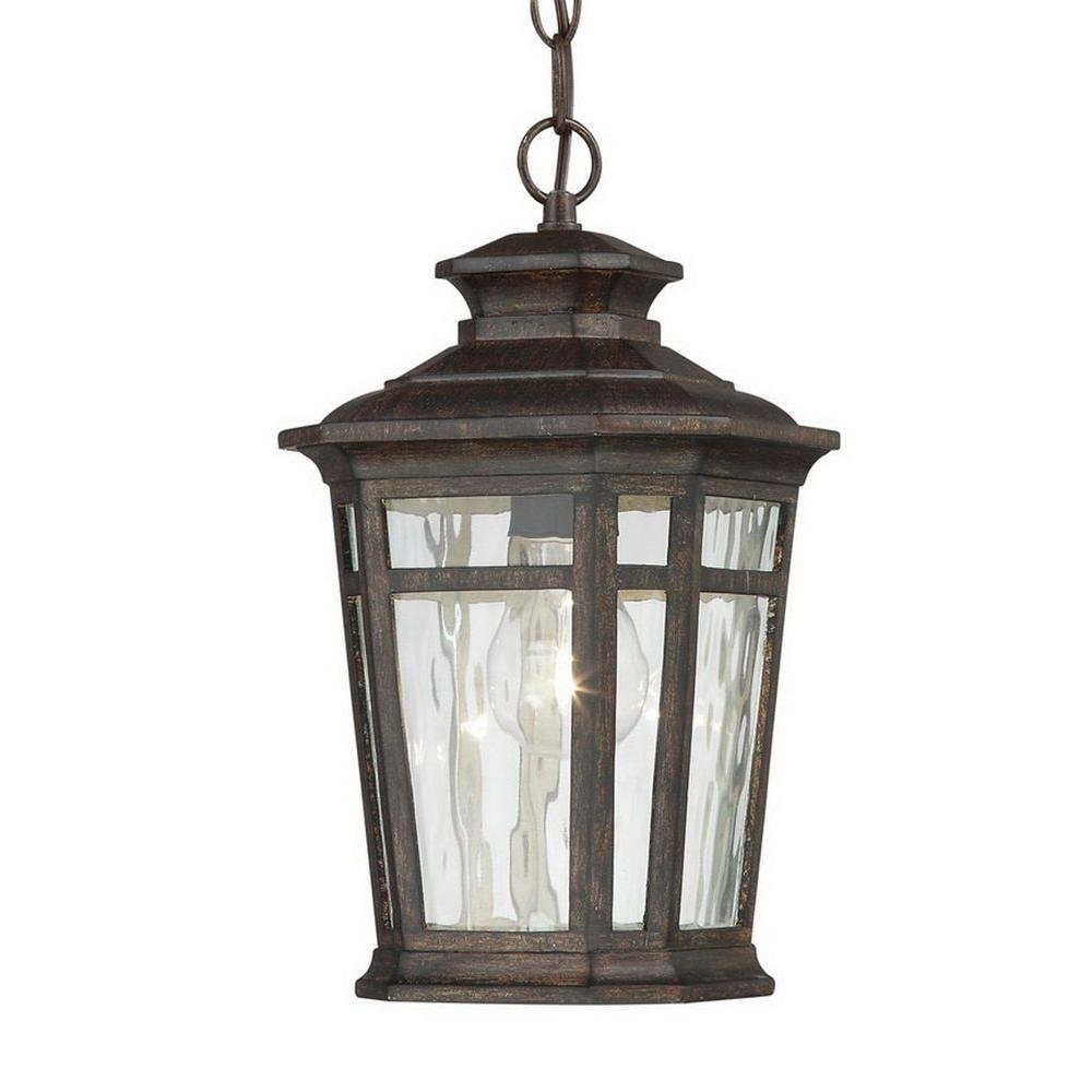 Home decorators collection waterton 1 light dark ridge for Hanging outdoor light fixtures