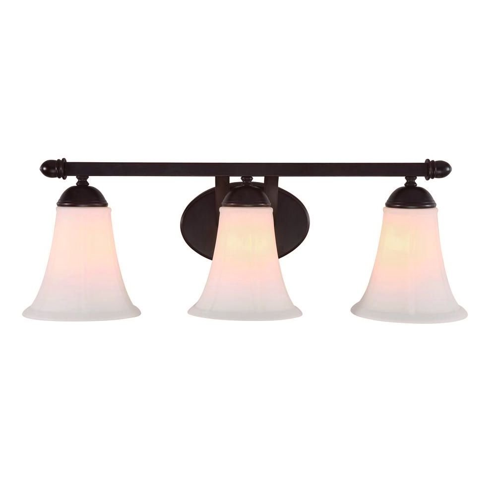 Bel Air Lighting CB-6046 3-Light Oil-Rubbed Bronze Bath Bar Light w/ Scavo Frosted Glass